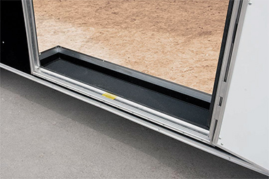 Recessed Step at Side Door