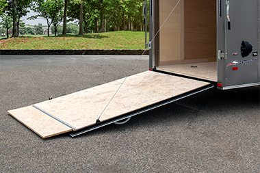 Rear Ramp Door With Spring Assist